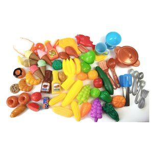 Other - Toy Play Pretend Food Plastic 50+ Pieces